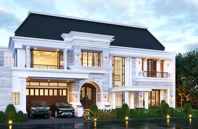 Desain Rumah Classic 2 Lantai Ibu Desnita di  Padang, Sumatera Barat
