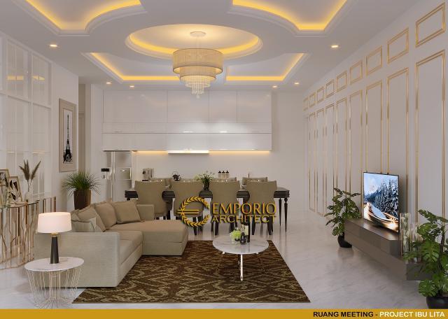Desain Ruang Meeting Rumah Classic 2 Lantai Ibu Lita di Cibubur, Jakarta Timur