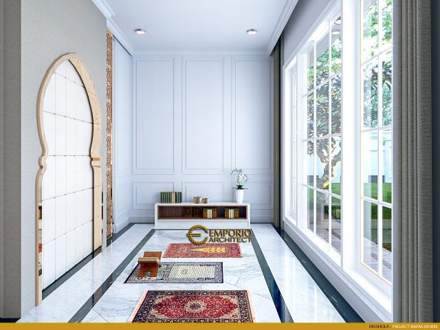 Desain Mushola Rumah Classic 2 Lantai Bapak Mubin di Bengkulu
