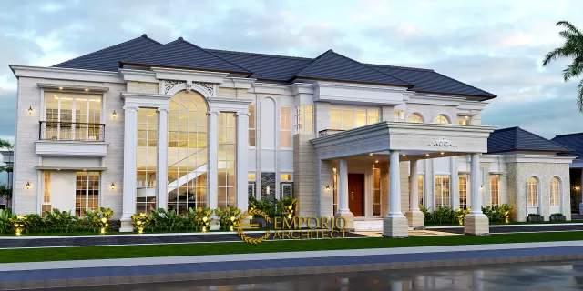 Desain Rumah Classic 2 Lantai, Kantor dan Paviliun Bapak Johan di  Manado, Sulawesi Utara