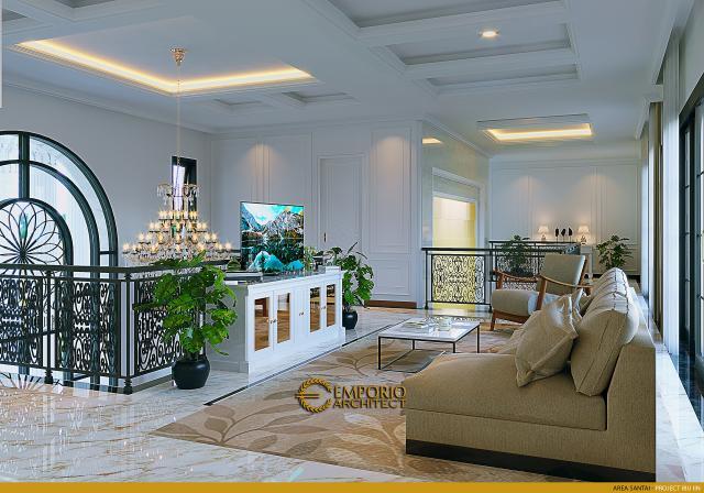 Desain Area Santai Rumah Classic 2 Lantai Ibu Iin di Kendari, Sulawesi Tenggara