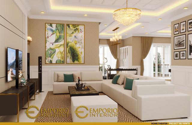 Desain Home Theater 1 Rumah Classic 2 Lantai Ibu Winta di Jakarta