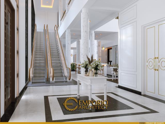 Desain Foyer Rumah Classic 2 Lantai Mr. Diabate di Senegal
