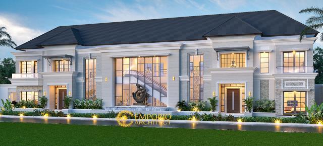 Desain Rumah Classic 2 Lantai Mr. Diabate di  Senegal