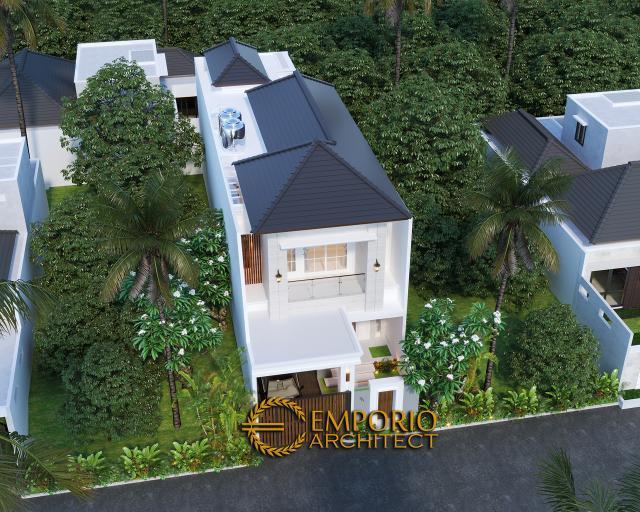 Desain Master Plan Tampak Depan Rumah Classic 2 Lantai Bapak Riko di Bekasi, Jawa Barat