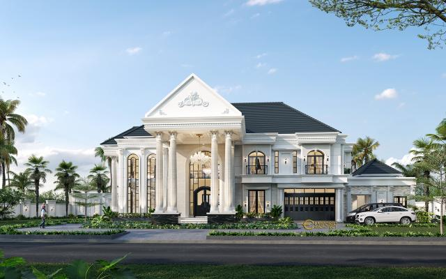 Mr. Ronald Classic House 2 Floors Design - Manado, Sulawesi Utara
