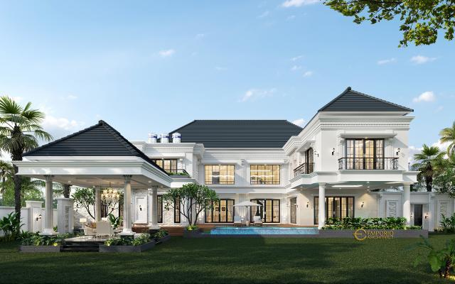 Mr. Ronald Classic House 2 Floors Design - Manado, Sulawesi Utara