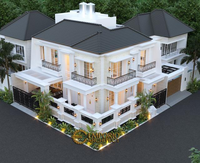 Desain Master Plan Rumah Classic 2 Lantai Bapak Ruddy di Jakarta Utara