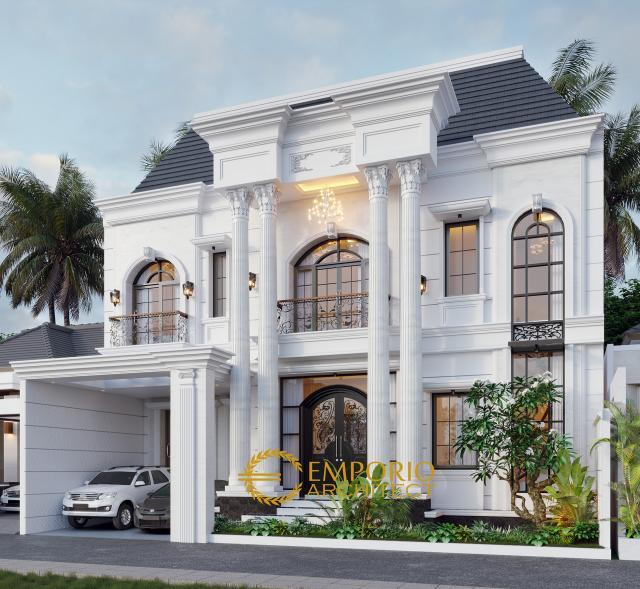 Desain Rumah Classic 2 Lantai Ibu Alina di  Badung, Bali