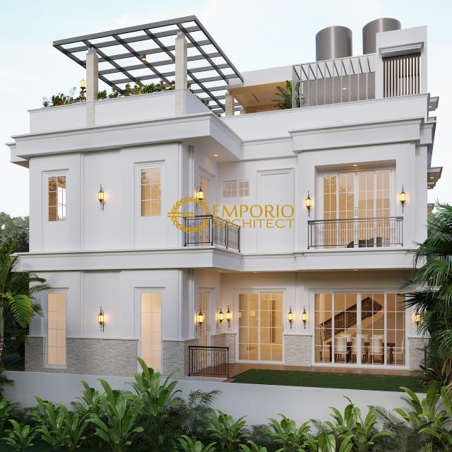 Desain Rumah Classic 3 Lantai Ibu Icha di  Tangerang, Banten