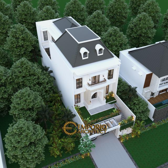 Desain Master Plan Rumah Classic 3 Lantai Ibu Tami di Jakarta Timur