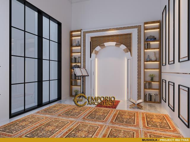Desain Mushola Rumah Classic 3.5 Lantai Ibu Tyas di Jakarta Selatan
