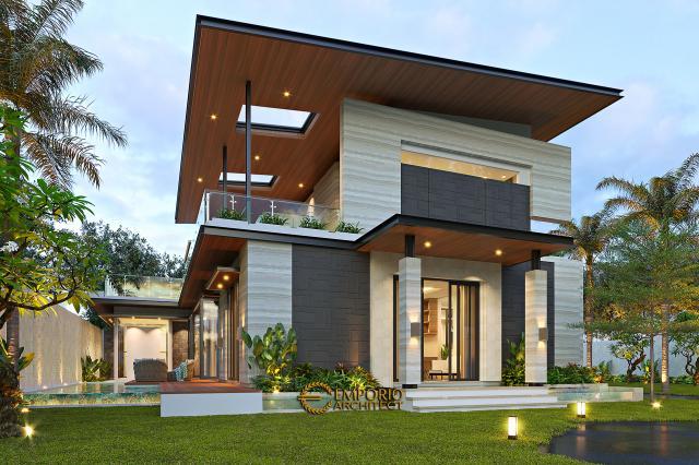Desain Tampak Samping Rumah Modern 2 Lantai Ibu Niar di Bekasi, Jawa Barat