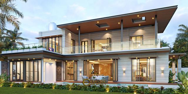 Desain Tampak Belakang Rumah Modern 2 Lantai Ibu Niar di Bekasi, Jawa Barat
