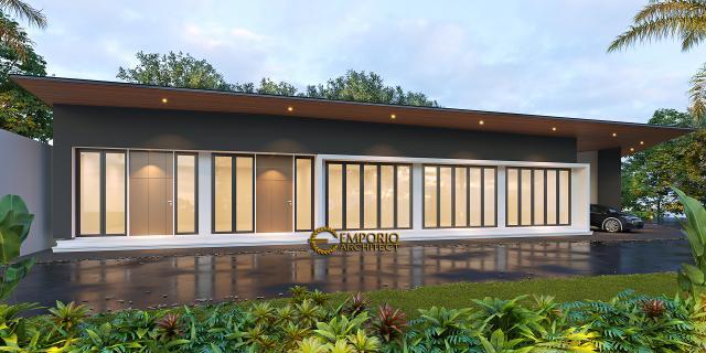 Desain Tampak Samping Toko Modern 2 Lantai Ibu Niar di Bekasi, Jawa Barat