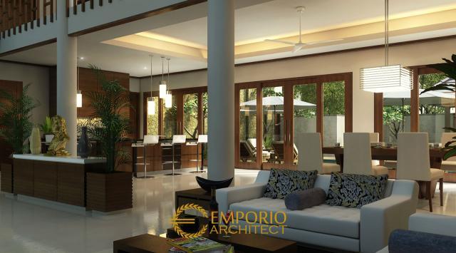 Desain Ruang Keluarga dan Ruang Makan Rumah Bapak Frans di Jakarta