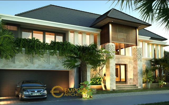Desain Rumah Villa Bali 2 Lantai Bapak Frans di  Jakarta