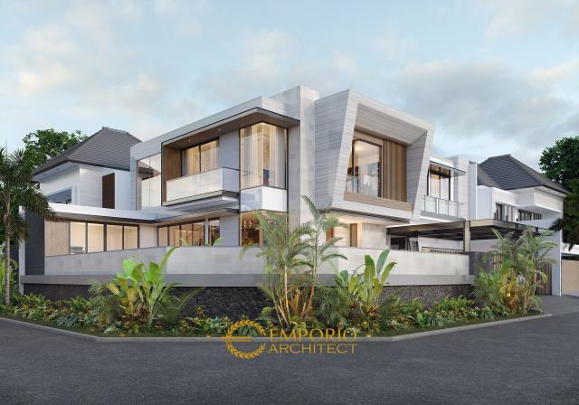 Mrs. Dery Modern Hook House 2 Floors Design - Jakarta Utara