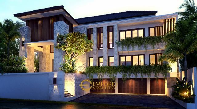 Desain Rumah Villa Bali 2 Lantai Ibu Atik Lawrence di  Jakarta
