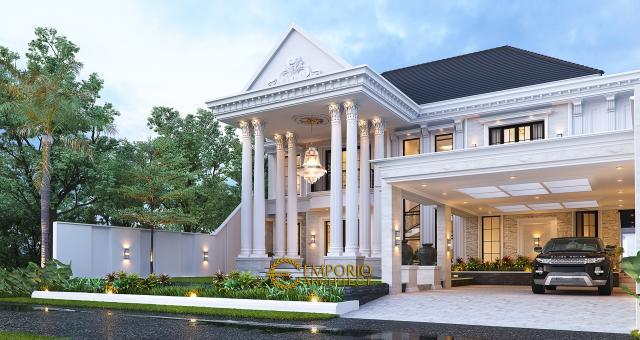 Desain Rumah Klasik 2 Lantai Bapak Eric di  Singkawang, Kalimantan Barat