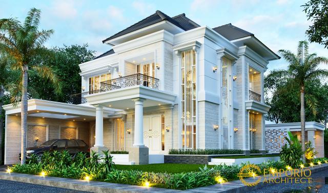 Desain Rumah Klasik 2 Lantai Ibu Titin di Banjarmasin, Kalimantan Selatan - Tampak Hook