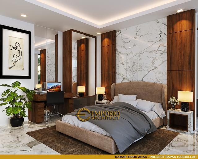 Desain Kamar Tidur Anak Rumah Klasik 2 Lantai Bapak Hasbullah di Jakarta