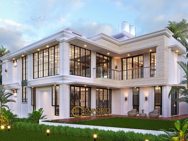 Desain Tampak Belakang Rumah Klasik 2 Lantai Bapak Hasbullah di Jakarta