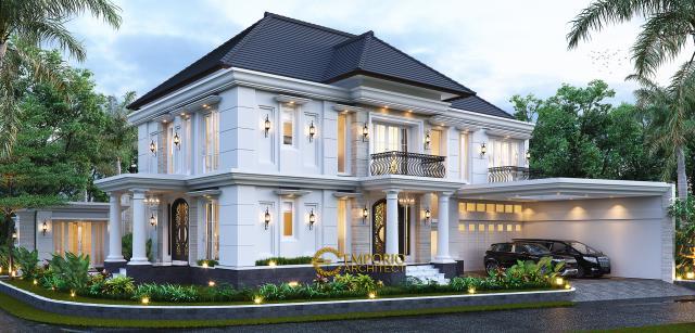 Desain Rumah Klasik 2 Lantai Bapak Mohammad di Surabaya - Tampak Hook