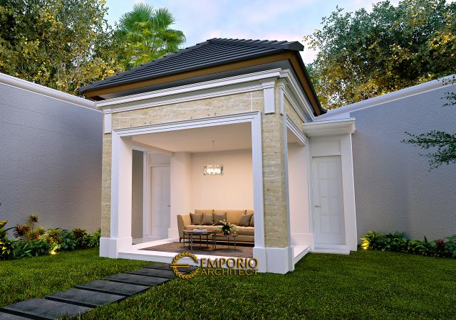 Desain Gazebo Rumah Klasik 2 Lantai Bapak Alfi di Bekasi