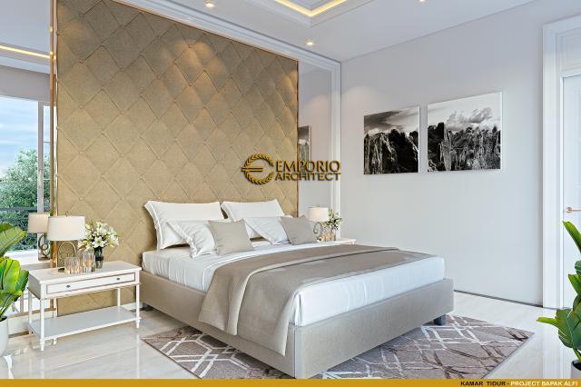 Desain Kamar Tidur Rumah Klasik 2 Lantai Bapak Alfi di Bekasi