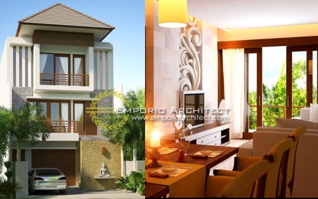Desain Exterior Rumah Villa Bali 3 Lantai Bapak Lesmana di Denpasar, Bali
