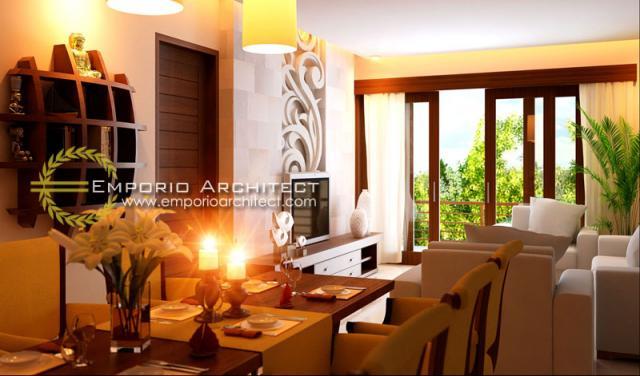 Desain Interior 2 Rumah Villa Bali 3 Lantai Bapak Lesmana di Denpasar, Bali