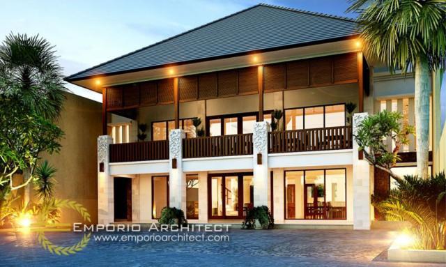 Desain Tampak Depan Restoran Villa Bali 2 Lantai Bapak Anton di Surabaya