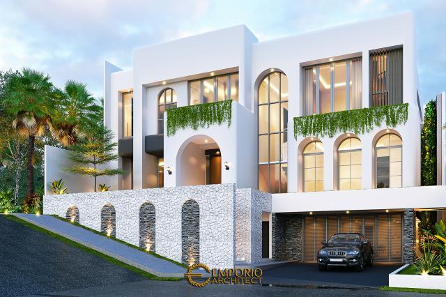 Desain Rumah Santorini 2.5 Lantai Ibu Linda di  Jakarta