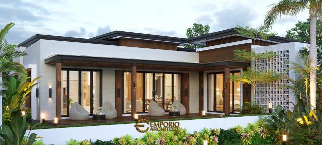 Desain Tampak Belakang Rumah Modern 1 Lantai Bapak Jeremia di Pekanbaru, Riau