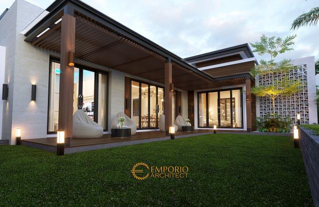 Desain Detail Belakang Rumah Modern 1 Lantai Bapak Jeremia di Pekanbaru, Riau