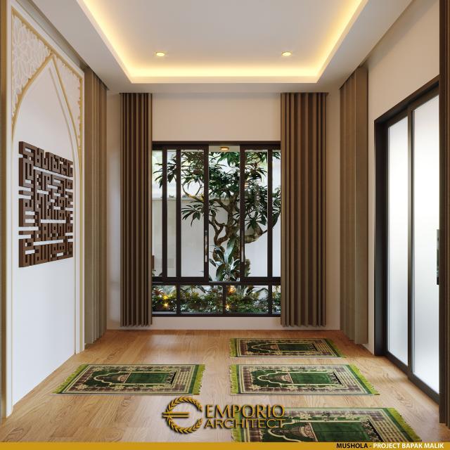 Desain Mushola Rumah Modern 1 Lantai Bapak Malik di Sragen, Jawa Tengah