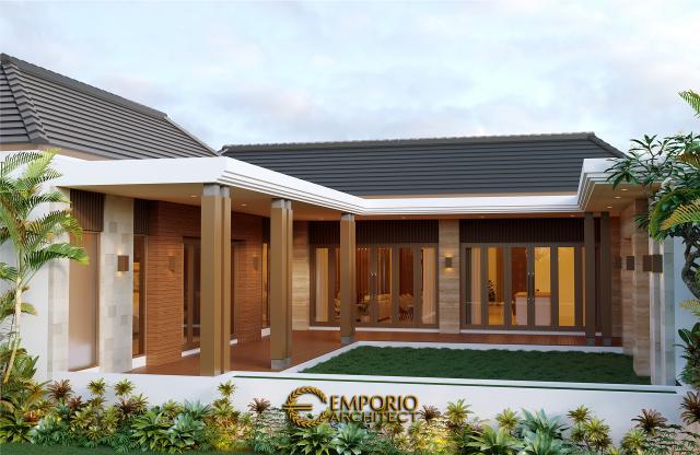 Desain Tampak Belakang Rumah Modern 1 Lantai Bapak Anwar di Aceh