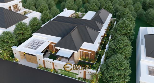 Desain Masterplan Depan Rumah Modern 1 Lantai Bapak Anwar di Aceh