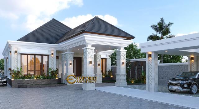 Desain Tampak Depan 2 Rumah Villa Bali Modern 1 Lantai Bapak Ivan di Pangkalan Bun, Kotawaringin Barat, Kalimantan Tengah