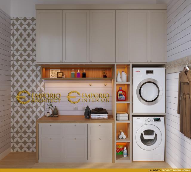 Desain Laundry 1 Rumah Modern 2 Lantai Bapak Johan di Depok, Jawa Barat