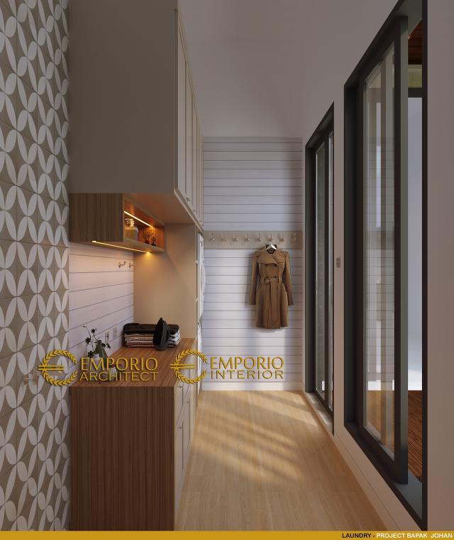 Desain Laundry 2 Rumah Modern 2 Lantai Bapak Johan di Depok, Jawa Barat