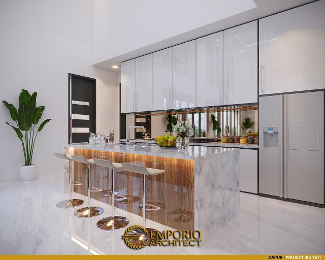 Desain Dapur Rumah Modern 2 Lantai Ibu Yeti di Lampung