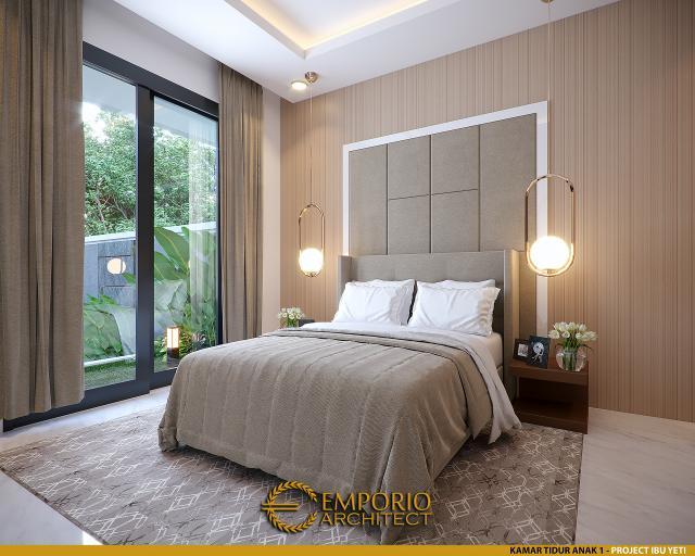 Desain Kamar Tidur Anak 1 Rumah Modern 2 Lantai Ibu Yeti di Lampung