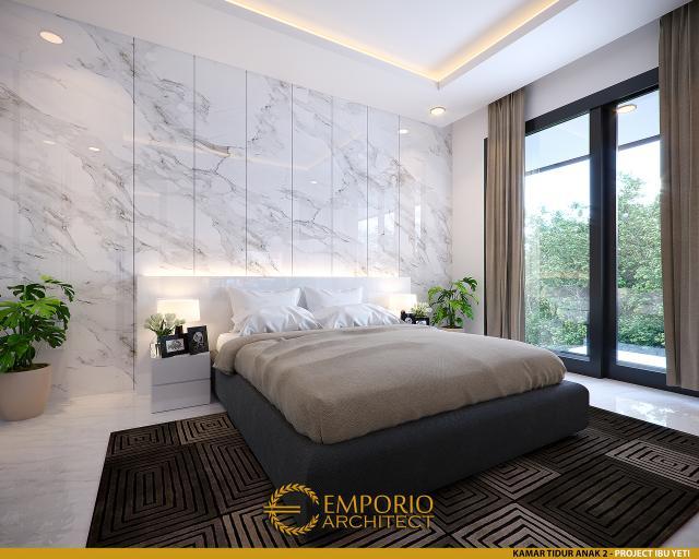 Desain Kamar Tidur Anak 2 Rumah Modern 2 Lantai Ibu Yeti di Lampung