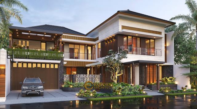 Desain Rumah Modern 2 Lantai Bapak Kris di Yogyakarta - Tampak Depan