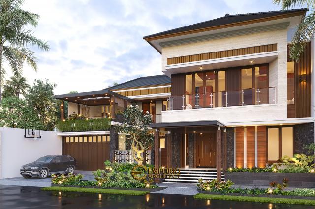 Desain Tampak Depan 2 Rumah Modern 2 Lantai Bapak Kris di Yogyakarta