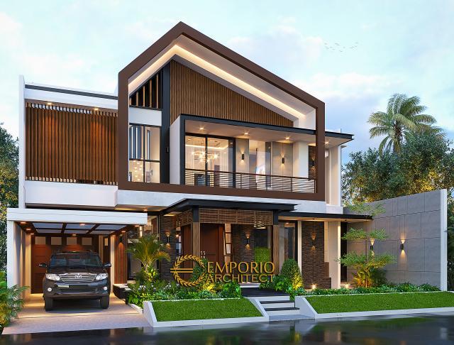 Desain Rumah Modern 2 Lantai Bapak Welan di  Manado, Sulawesi Utara