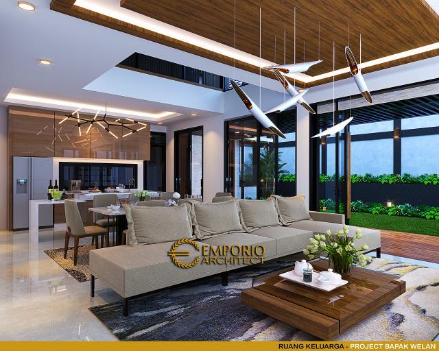 Desain Ruang Keluarga Rumah Modern 2 Lantai Bapak Welan di Manado, Sulawesi Utara