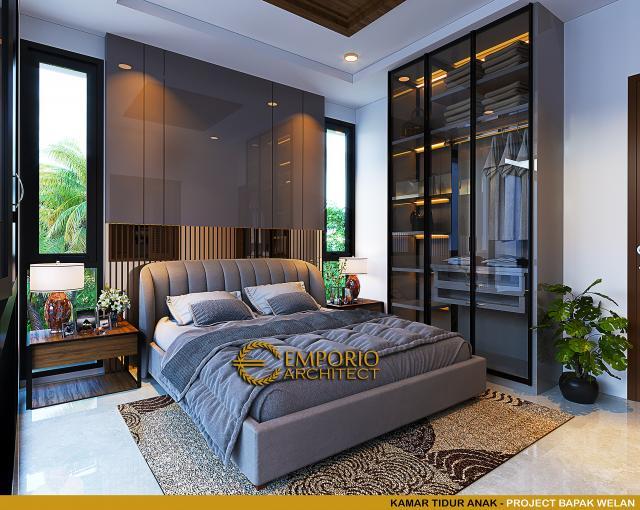 Desain Kamar Tidur Anak Rumah Modern 2 Lantai Bapak Welan di Manado, Sulawesi Utara